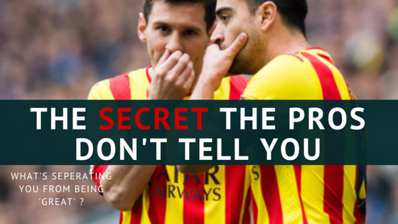 The Secret The Pro's Don't Tell You